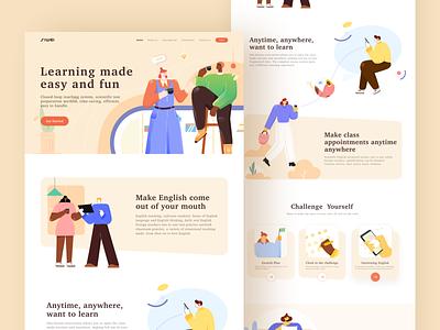 Siwei Education Web Redesign illustration design illustrations web ui