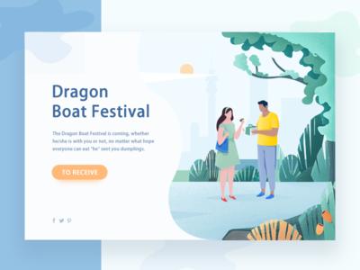 illustrations web page tree sun figure green festival boat dragon