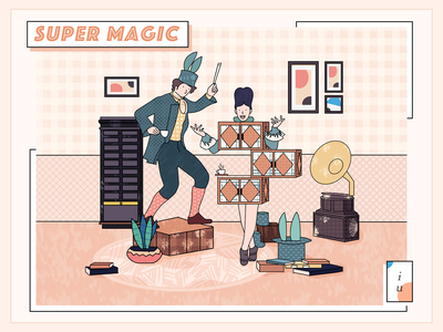 Magic illustrations magic ui design people illustrations