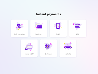 Icons set for payment system daily ui icon violet colorful lovley icons icons design payment icons payment system icons set