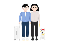 Travel Couples with Bull Terrier