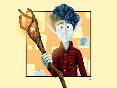 Pixar Onward wizard magic ian pixar art disney art digital painting movie art animation illustration disney onward pixar