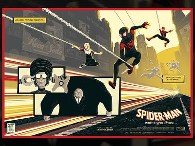 Spider-Man: Into the Spider-Verse illustration comics comic art peter parker gwen stacy spidergwen movie poster marvel amp poster miles morales spiderverse into the spiderverse spiderman