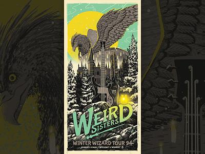 Weird Sisters: Winter Wizard Tour 94 - Harry Potter digital art movie poster movie digital painting poster amp art illustration wizarding world wizard posterdesign gigposter hogwarts harrypotter