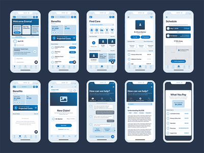 Wireframe App Concepts ios health insurance medical x iphone concept app wireframe