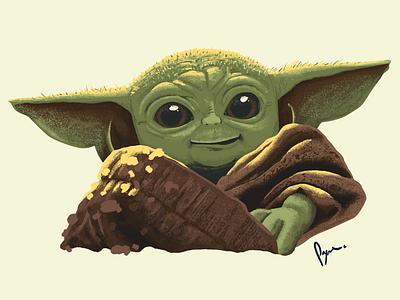 "The Child ""Baby Yoda"" cute digital art illustration mandalorian baby yoda star wars"