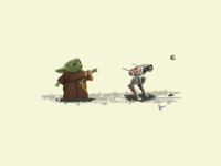Baby Yoda Plays Fetch with BD-1