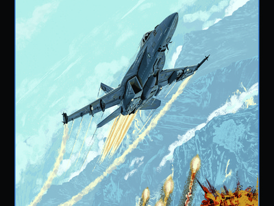 Top Gun: Maverick - The Need for Speed Returns digital painting movie poster f18 super hornet fighter jet illustration amp fanart movie poster tom cruise top gun maverick top gun 2 top gun