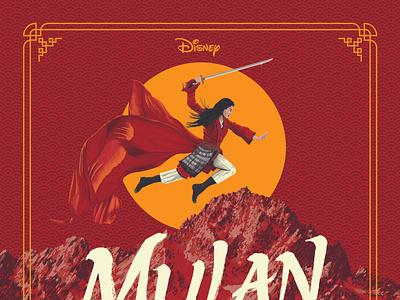 Disney's Mulan Poster digital painting movie disney princess disney art digital art illustration china mountain horse poster movie poster alternative movie poster amp mulan disney