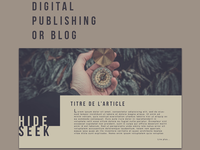Digital Publishing or Blog