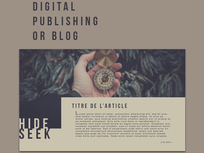 Digital Publishing or Blog brown purple typography design ux interface daily ui