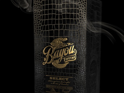 Bayou Rum box packaging design