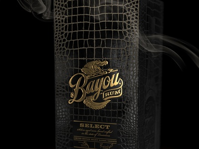 Bayou Rum box packaging design