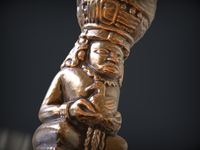 Mayan statue 3d render