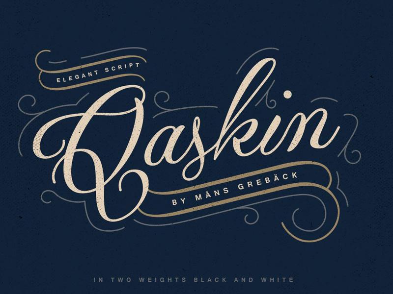 Qaskin Black Font
