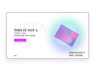 Dribbble Shot - 1 website adobexd finance banking bank card product gradient web design minimal clean