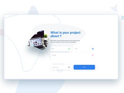 contact form website clean minimal contact form design design