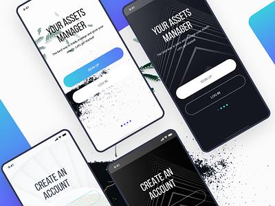 Sign up Login adobexd mobile app typography app web ux design