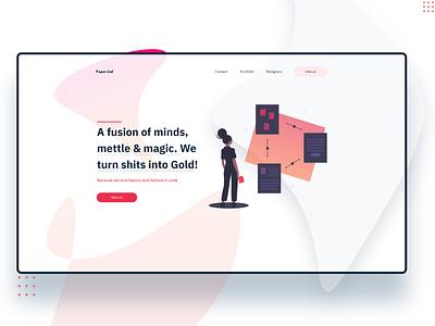 Web agency concept flat ui illustration web design adobexd