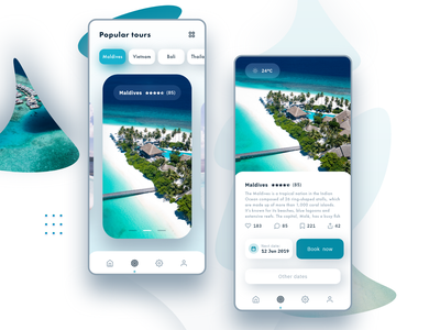Tourism app agency travel holidays summer tour app design tourism