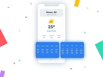 Weather app minimalist concept design app weather