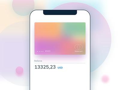 Gradient Card app clean finance app user interface design user interface pay gradient card