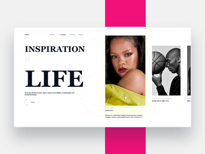 Inspiration Of The Day interface minimal website clean web people quotes influence inspiration