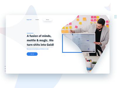 web agency ui minimal clean website design web