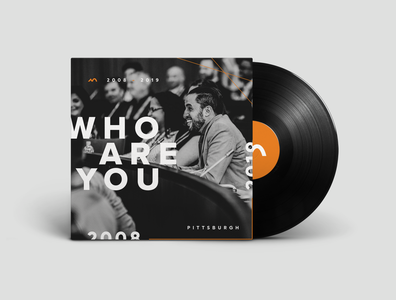 NADG Who Are You Record print vinyl packaging design layout branding