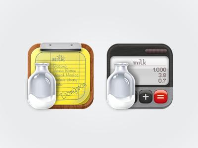Icon - milk Order icon milk