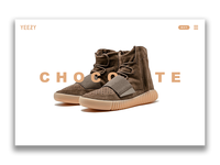 Yeezy 750 Chocolate Landing Page