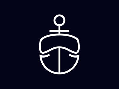 Anchor + Scuba Mask Logo