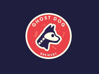Ghost Dog Brewery logo beer branding skeleton dog beer coaster design coasters illustration ghost brew coaster brewery logo brewery