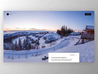 Klippitz Home page corporate homepage web website ux ui motion loader landing page animation