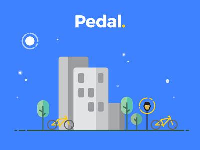 Pedal.  city bike exercise web design biking graphic design vector