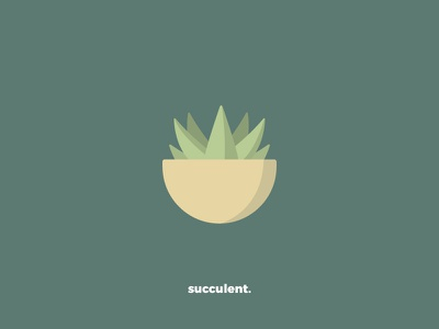 Succulent Icon succulent illustration flat iconography