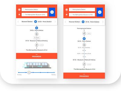 Metro NYC App navigation travel ux ui subway nyc metro