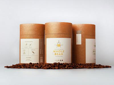 Käfer Coffee + Roaster: Coffee Bean Cylinders tubes branding packaging bean beetle kafer coffee