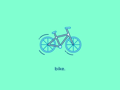 Bike Icon vector flat iconography bike