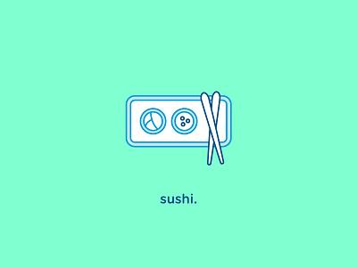 Sushi Icon vector flat icon food sushi iconography