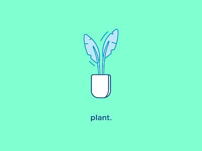 Plant Icon home vector flat icon plant iconography
