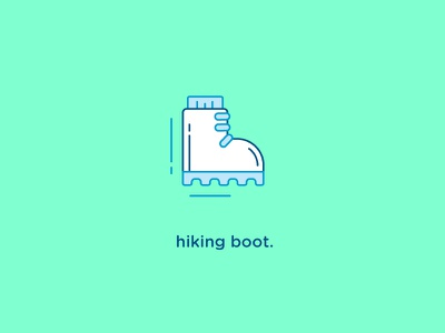 Hiking Boot Icon wilderness outdoors vector flat icon hiking boot iconography