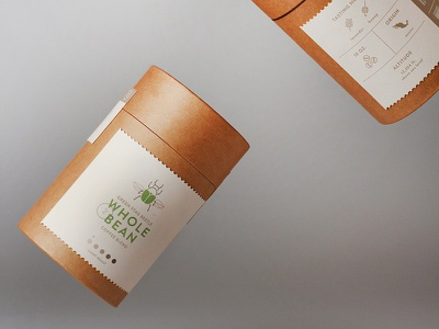 Käfer: Coffee + Roaster coffee bean cylinders iconography cardboard design beetle logo branding coffee bean coffee bag packaging design