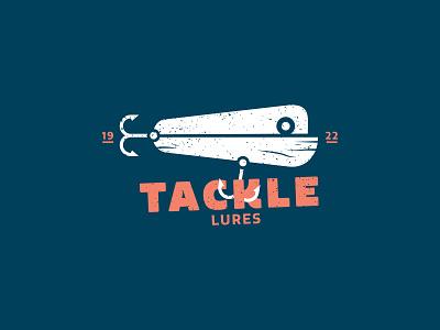 Tackle Lure Logo I water fishing typography vector art ocean fish lure logo tackle