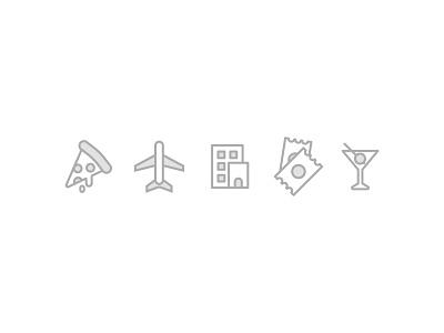 paperplane app iconography food spending budgeting money app travel icon ux ui graphic design illustration branding flat vector iconography