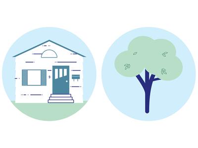 Neighbourhood 1 tree house spot illustration illustration vector
