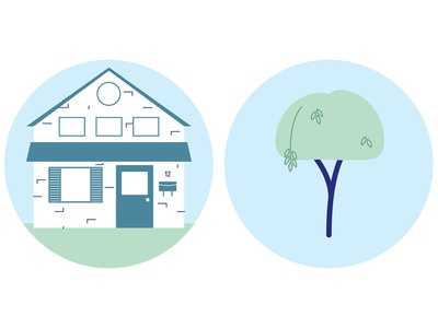 Neighbourhood 2 tree house spot illustration vector