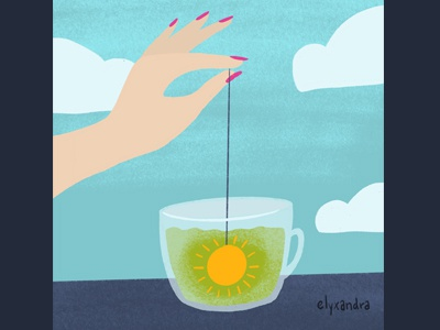 Morning Routine mats matseditorial manicure tea morning illustration editorial editorial illustration
