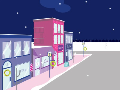 Shopping Local downtown christmas shopping boutique small business shop local winter scene vector art vector digital illustration