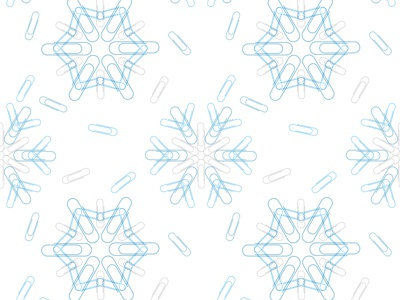 Paperclip Snowflake repeating pattern office supplies paperclip snowflake winter pattern